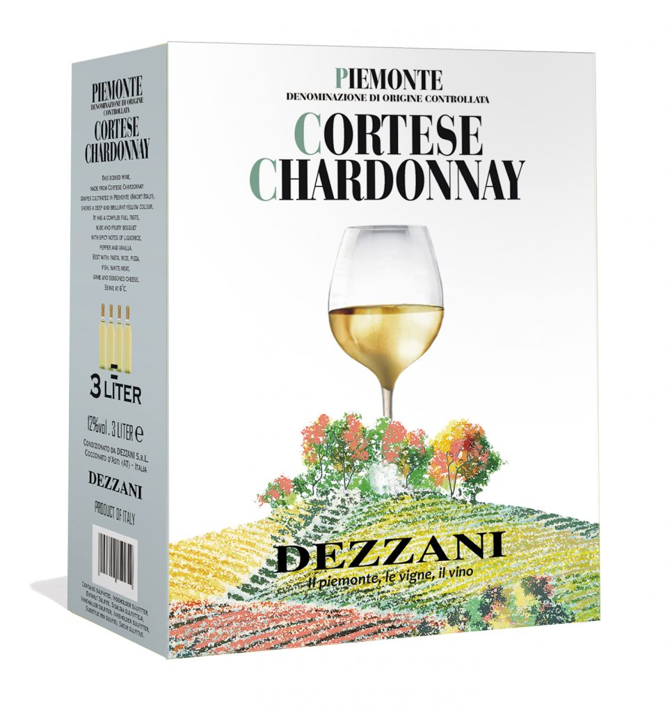 UUTUUS! Dezzani Cortese Chardonnay 3L Piemontesta, Italiasta